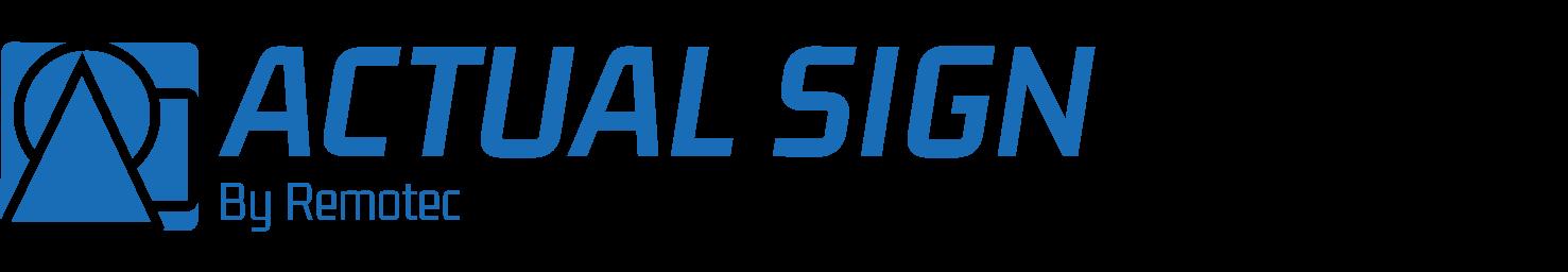 Logo Actual Sign by Remotec, wayfindingexpert