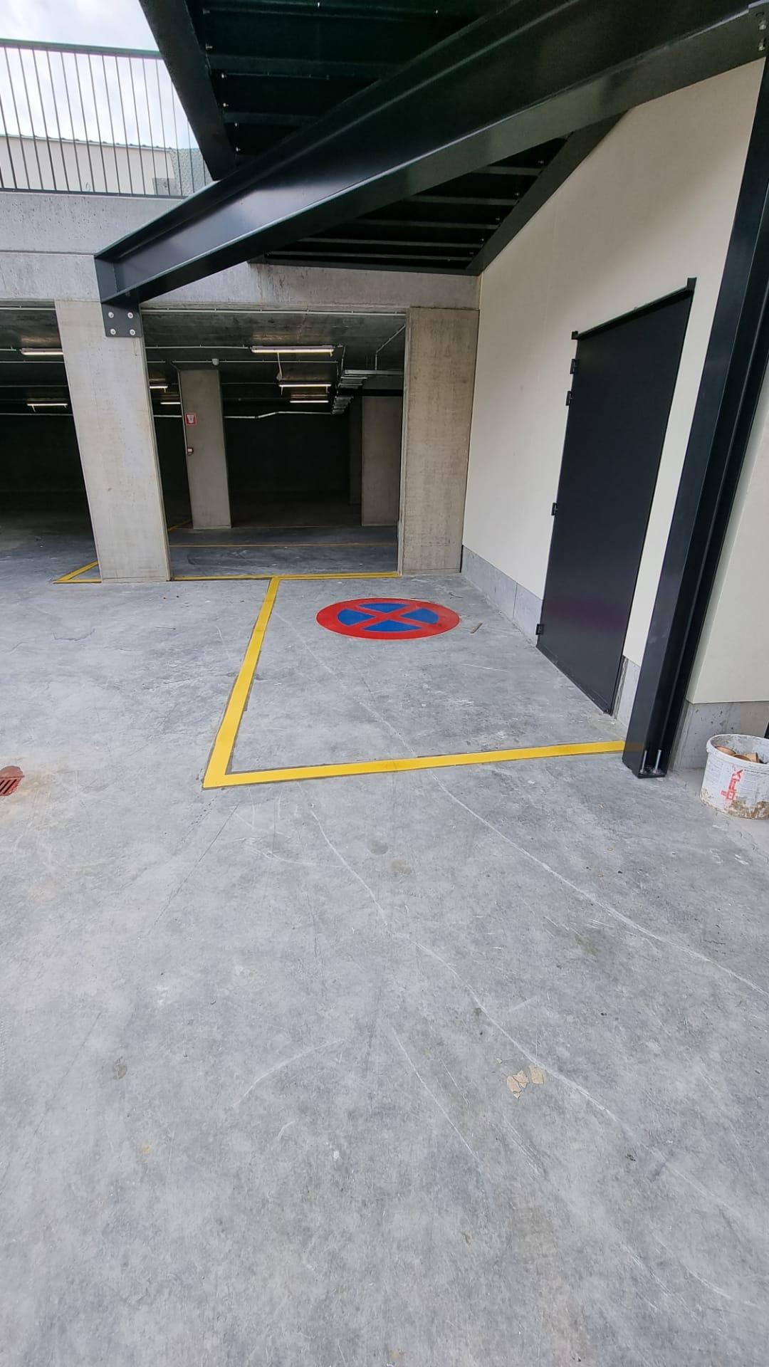Buitenbelijning ondergrondse parking afbakeningszone door Remotec